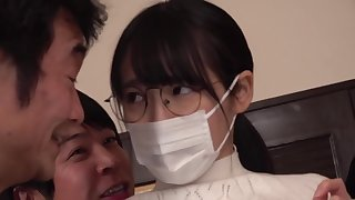 Masked housewife blackmailed secure creampie group sex - jav [KIMU-006]