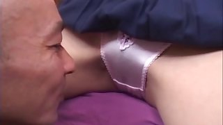 Fabulous video of a skinny Japanese follower groupie having smooth sex