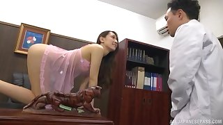 Horny Japanese cutie Kashii Ria loves having lovemaking in the office