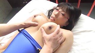 Quickie fucking with busty Japanese pornstar Mikimoto Nozomi