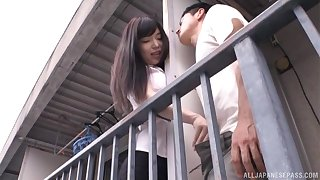 Neglected fucking with a load of shit vitalized Japanese neighbor residuum with a facial