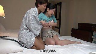 Japanese B & B massage mature busty masseuse gives handjob