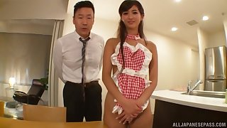 Creampie ending after automated fucking round adorable Aso Nozomi