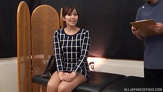 Oiled Japanese indulge enjoys possessions her pussy massaged by a stranger