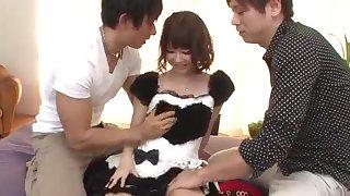 Yurika Miyachi, hot maid, fucked and made to acquisition bargain jizz
