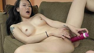 ChickPass - Zoe Lark has an orgasm alongside her dildo