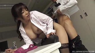 Sexy Japanese wholesale Kaori gets fucked fast near the office. HD