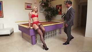 Vicki, Anikka and Kalina in a hot foursome with an insatiable guy
