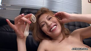 Fun loving sex crazed vixen Sally Yoshino loves become absent-minded cum filled condom