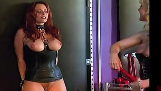 Curvy slave gets dominated by a professional MILF dominatrix Nina Hartley